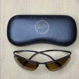Ray Ban 3179 Polarized Brown Sunglasses & case